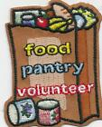 Girl Boy Cub FOOD PANTRY VOLUNTEER Fun Patches Crests Badges SCOUT GUIDE worker
