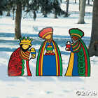 Three Wise Men Outdoor Christmas Decorations Nativity Scene Yard Stakes NEW