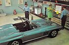 6x9 1967 Blue CORVETTE CONVERTIBLE - Sunoco Garage- CleanUP Sweepstakes #3