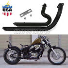 Shortshots Staggered Exhaust Pipe Kit Fit Honda Steed Shadow VT VLX400 600 US