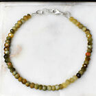 Faceted 3500 Cts Natural 7 Long Cats Eye Round Beads Beads Bracelet JK 12E169