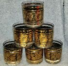 Set of Georges Briard Modern Mid Century LowBall Glassed.