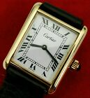 CARTIER VINTAGE TANK MEN'S WRISTWATCH w/ MECHANICAL HAND-WIND MOVEMENT