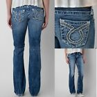 Womens Big Star Vintage Jeans Low Rise Liv Omega Distressed Bootcut Stretch 25S