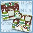 SNOW FAMILY LIKE OURS Printed Premade Scrapbook Pages
