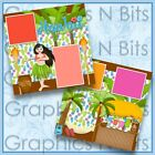 HAWAII Printed Premade Scrapbook Pages