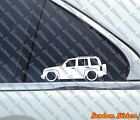 2x Lowered car outline stickers for Jeep Liberty KJ 2002 2007