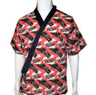 Sushi Chef Coat Happi Coat Short Kimono Chef Uniform Sushi Chef Jacket Unisex