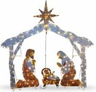 National Tree Company 72 Crystal Nativity Christmas Product