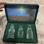THE THREE WISE MEN WATERFORD MARQUIS LEAD CRYSTAL NATIVITY MIB