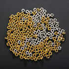 100Pcs Donut Smooth Metal Beads Large Hole Loose Spacers handmade Beads material