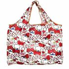 Cute Red Hello Kitty Head Foldable Shopping Bag Eco friendly Large Capacity