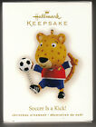 2009 Hallmark SOCCER IS A KICK Christmas tree keepsake tiger ornament new in box