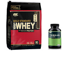 Optimum Gold Standard WHEY PROTEIN 6 lb + TRIBULUS FREE Boost Test Lean Muscle