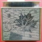 Leaves and Patterns Rubber Stamp M2161 Fall Autumn Background Dauber Duo Lot