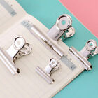 Chrome Metal Silver Grip Clip Letters Binder Paper Clamp Bulldog Clips Office