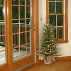 3 Green Spruce Artificial Christmas Tree with 100 Clear White Lights