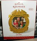 Our Hero`2014`Our Soldier,Our Heart-Family Photo Holder,Hallmark Tree Ornament