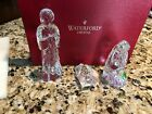Waterford Crystal 3 Piece Nativity Set