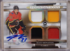 Sean Monahan 2018-19 The Cup Foundations 15 Quad Jersey Auto