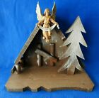 Vintage Fontanini Depose Italy Nativity Creche Manger Stable 50001 Gloria Angel