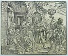 1548 Master Woodcut monogrammed Luther Nativity with Maggi
