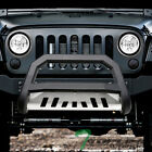 Topline For 2010 2018 Jeep Wrangler JK AVT Bull Bar Grille Guard Matte Blk Skid