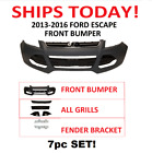 2013 2014 2016 2015 FORD ESCAPE FRONT BUMPER COVER WITH ALL GRILLS