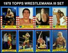 1987 Topps WWF Trading Cards 15