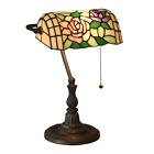 16 Tiffany Style Archaize Table Zinc alloy base Lamp color Rose design Glass