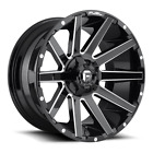 4 20x9 Fuel Gloss Black  Milled Contra Wheel 6X135 6X1397 For Toyota Jeep