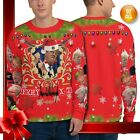 Each unique all over printed Donald Trump Ugly Christmas Sweatshirt
