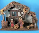 FONTANINI HEIRLOOM NATIVITY SET STABLE + 6 FIGURES 5 SIZE XLNT