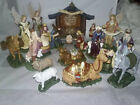 NATIVITY SET THOMAS KINKADE 19 PC HAWTHORNE VILLAGE CHRISTMAS JESUS STABLE MARY