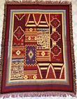 Throw Blanket Native American or Southwest Pattern 70x53 Nice condition
