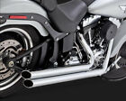 2 2 Big Shots Staggered Chrome Full Exhaust VaH 17939 For 86 17 Harley Softail