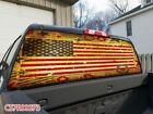 Cure America Flag Design Rear Window Graphic Decal Tint Sticker Truck SUV Jeep