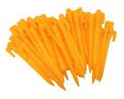 Yellow Plastic Garden Stakes Tent Pegs 57 40 Pieces
