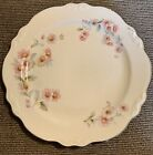"Homer Laughlin Virginia Rose pattern 9"" Salad Plate Platinum Rim One"