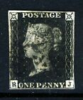 GB QV PENNY BLACK 1840 Plate 5 RJ Black Maltese X SG 1 Specialised AS24 VFU