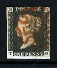 GB QV PENNY BLACK 1840 Plate 1b TG Red Maltese Cross SG 2 Specialised AS5 VFU