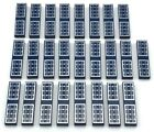 Lego 25 New Dark Blue Tiles 1 x 4 with Solar Panels Pattern Parts