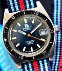Stunning Blue Dial! Vintage Tissot Automatic Seastar 1970s Diver Watch Serviced