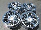 22 NEW PLATINUM STYLE CADILLAC ESCALADE CHROME WHEELS 5358 WITH CADILLAC CAPS