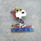 VAIL Peanuts Snoopy Blue Red Beanie Hat Resorts Ski Skiing Lapel PIN ~ Colorado