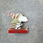 VAIL Peanuts Snoopy Green Red Beanie Hat Resorts Ski Skiing Lapel PIN ~ Colorado