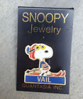 VAIL SNOOPY Red Beanie Hat Resorts Ski Skiing Lapel Hat Pin ~ Colorado CO