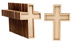Unfinished Wood Cutout 50 Pack Wooden Cross Wood Pieces Wood Shapes for DIY