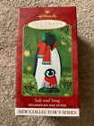 HALLMARK SAFE AND SNUG #1 SERIES 2001 CHRISTMAS KEEPSAKE ORNAMENTS PENGUINS CUTE