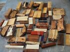 Large flat rate box of exotic wood and burl cutoffs and scraps no reserve Hybrid